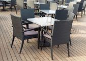 Empty interior of the summer restaurant — Foto de Stock