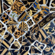 Stock Photo: Close-up of ceramics in Park Guell Barceloncreated by Gaud