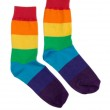 Couple of cheerful colored striped socks. — Stock Photo #45408959