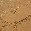 Heart drawn in the sand — Stock Photo #7910293