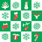Christmas And New Year Seamless Pattern — Stok Vektör