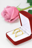 Pair of wedding rings — Stock Photo