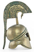 Ancient greek helmet replica — Foto Stock