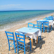 Greek tavern by sea — Stock Photo #41752183
