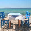 Greek tavern by sea — Stock Photo #41752349