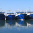 Fishing ships docked in port — Stock Photo #43614691