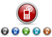 Mobile phone icons set — Stock Photo