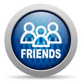 Friends icon — Stock Photo