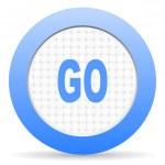Go icon — Stock Photo #13747209