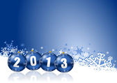 2013 new years illustration with christmas balls — Stock Photo