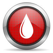 Water drop icon — 图库照片