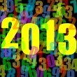 2013 new years illustration with numbers — Foto Stock