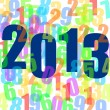 2013 new years illustration with numbers — Foto de Stock