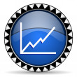 Chart icon — Stock Photo