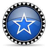 Gwiazda ikona — Zdjęcie stockowe