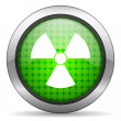 Radiation icon — Foto Stock