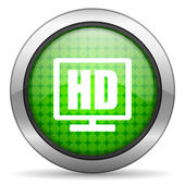 Hd display icon — Stock Photo