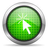 Kliknij ikonę — Zdjęcie stockowe