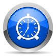 Stock Photo: alarm clock icon