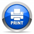 Print icon - Stock Photo