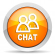 Foto Stock: Chat icon