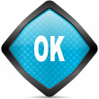 Ok icon — Stock Photo