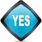 Yes icon — Stock Photo #14716475
