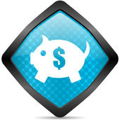 Piggy bank icon piggy bank icon — Stock Photo
