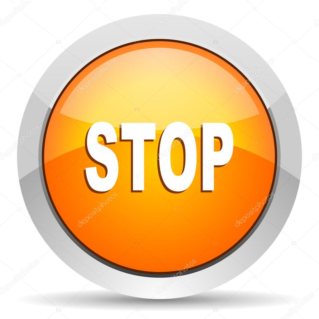 Stop icon  Stock Photo #14714409