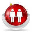 Couple icon — Stock Photo