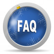 Faq icon — Stock Photo #14726091