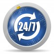 24 7 service icon — Stock Photo