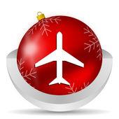 Airplane icon — Stock Photo