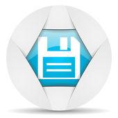 Disk round blue web icon on white background — Stock Photo