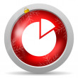 Chart red glossy christmas icon on white background — Stock Photo #15780953