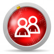 Forum red glossy christmas icon on white background — Stock Photo