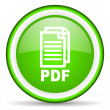 Stock Photo: Pdf green glossy icon on white background