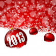 2013 new years illustration with christmas balls — Foto de Stock