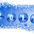 2013 new years illustration with christmas balls — Stok fotoğraf