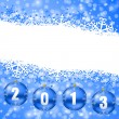 2013 new years illustration with christmas balls — Stock Photo #16208901