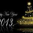 Stock Photo: 2013 new years illustration with christmas tree