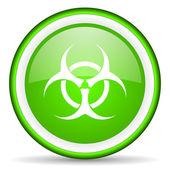 Virus green glossy icon on white background — Stock Photo