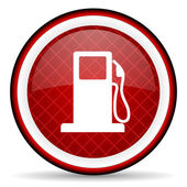 Fuel red glossy icon on white background — Stock Photo