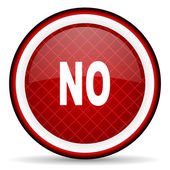 No red glossy icon on white background — Stock Photo