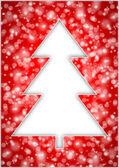 Christmas tree with snowflakes — Stock Photo