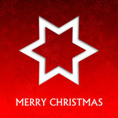Red christmas card with snowflakes illustration — Stock Photo