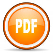 Stock Photo: Pdf orange glossy circle icon on white background