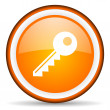 Stock Photo: Key orange glossy ircle con on white background