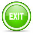 Stock Photo: Exit green glossy icon on white background