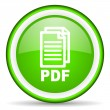 Pdf green glossy icon on white background — Stock Photo #16239165